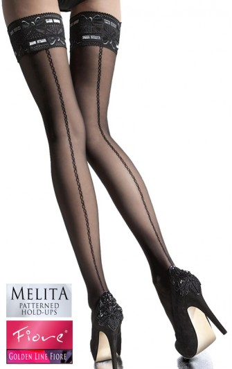 Bas Auto-Fixant Effet Couture Melita - Fiore