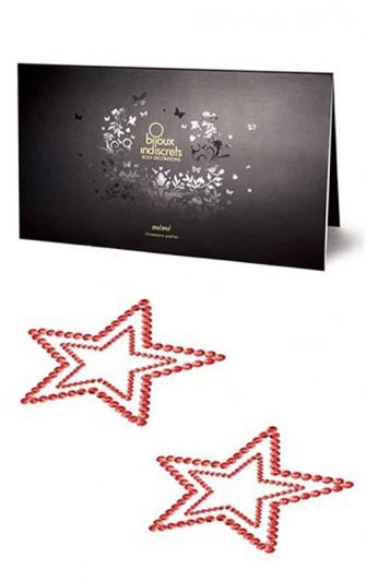 Bijoux de Peau Strass Étoile Rouge - Bijoux Indiscrets