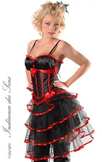 Ensemble Sexy Corset et Jupe Moulin Rouge