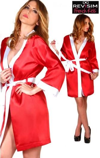 Kimono Sexy Rouge et Blanc
