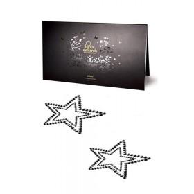Bijoux de Peau Strass Étoile Noire - Bijoux Indiscrets