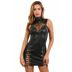 Robe Clubwear Fetish à Lacets