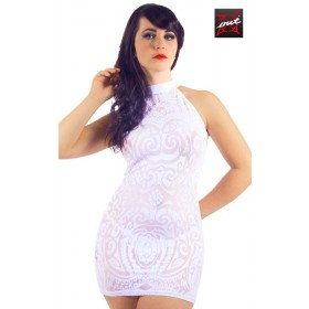 Robe Dos Nu Tattoo Tribal Résille OUTX