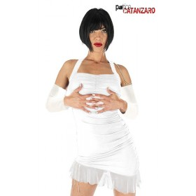 Robe Sexy Nacre Blanche + Manches Mitaines Catanzaro