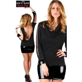 Robe Sexy Dos Nu Manches Longues
