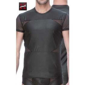 T-Shirt à Manches Homme Vinyle Mat et Maille OUTX