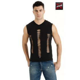 T-Shirt Sexy Homme Sans Manches Lacéré OUTX