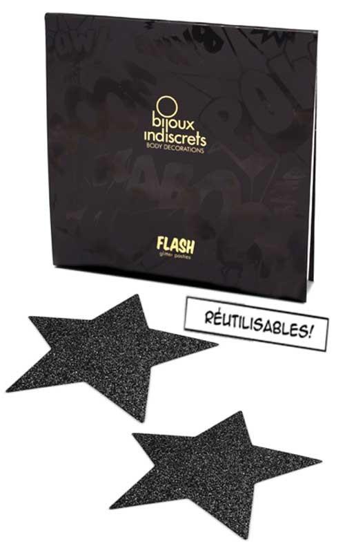 Bijoux de Peau Flash Etoile Noir - Bijoux Indiscrets