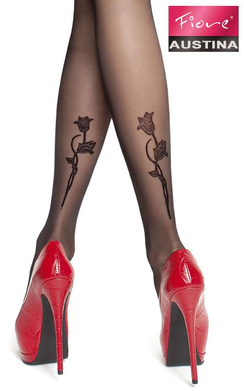 Collants Tatouage Floral Austina - Fiore