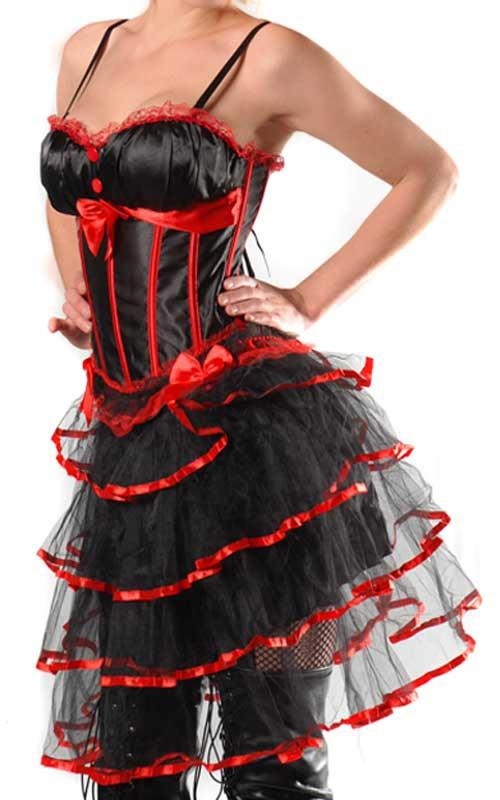 Corset et Jupe Sexy Moulin Rouge
