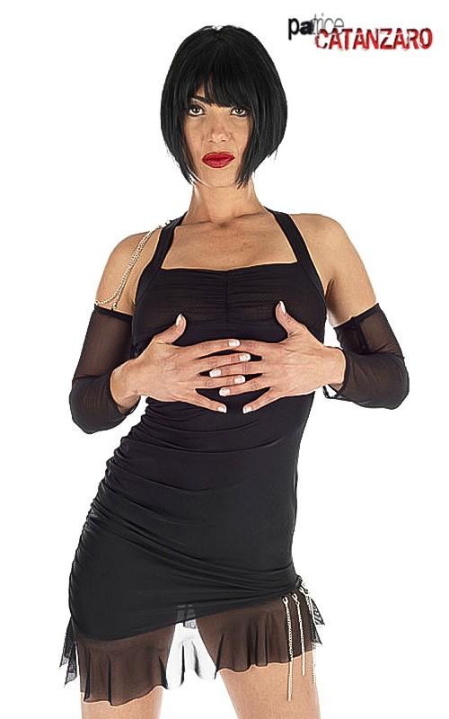 Robe Sexy Nacre Noire + Manches Mitaines Catanzaro